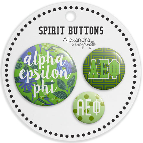 Buttons  Alpha Epsilon Phi - Alexandra and Company