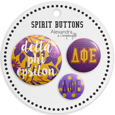 Buttons  Delta Phi Epsilon - Alexandra and Company