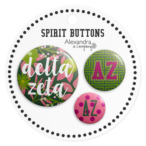 Buttons  Delta Zeta - Alexandra and Company