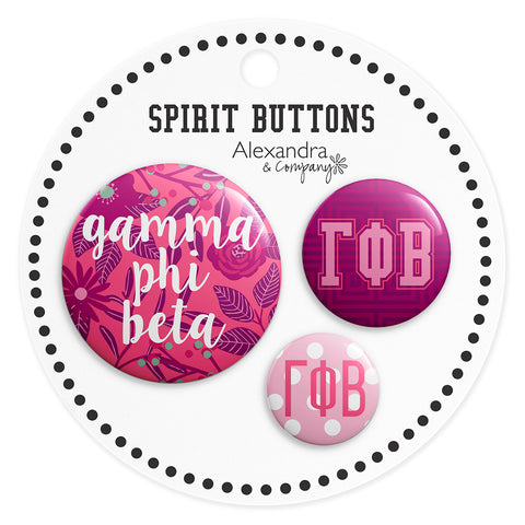 Buttons  Gamma Phi Beta - Alexandra and Company
