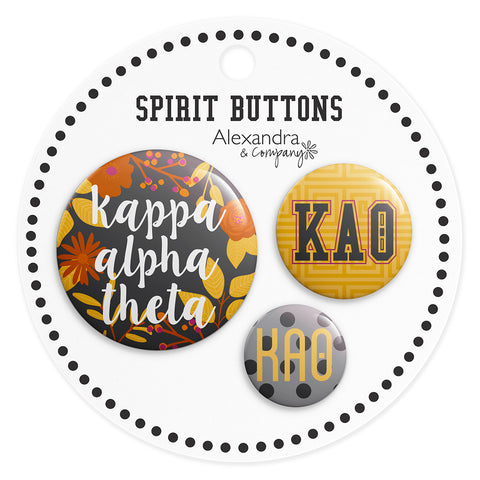 Buttons  Kappa Alpha Theta - Alexandra and Company