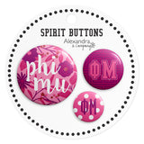 Buttons  Phi Mu - Alexandra and Company
