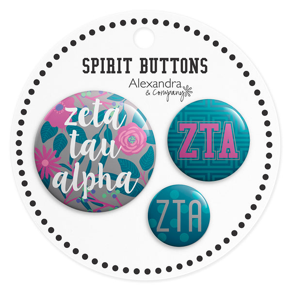 Buttons  Zeta Tau Alpha - Alexandra and Company