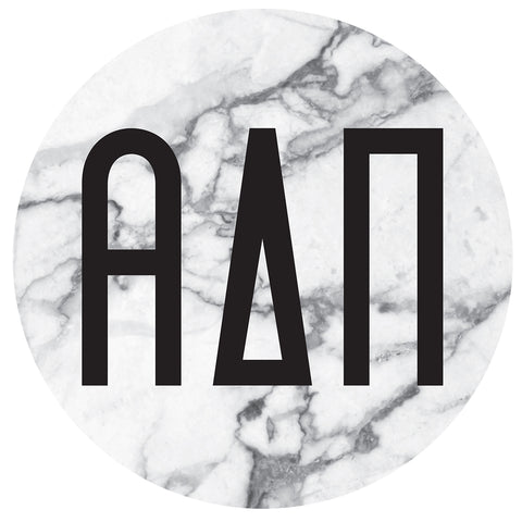 Round Bumper Sticker  Alpha Delta Pi - Alexandra and Company