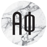 Round Bumper Sticker  Alpha Phi - Alexandra and Company