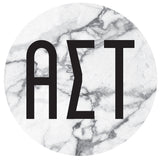 Round Bumper Sticker  Alpha Sigma Tau - Alexandra and Company