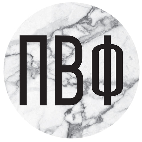 Round Bumper Sticker  Pi Beta Phi - Alexandra and Company
