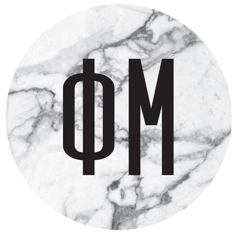 Round Bumper Sticker  Phi Mu - Alexandra and Company