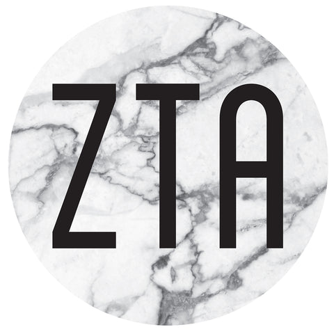 Round Bumper Sticker  Zeta Tau Alpha - Alexandra and Company