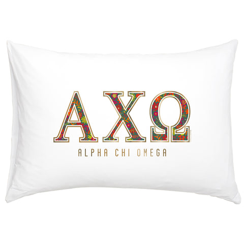 Cotton Pillow Case  Alpha Chi Omega - Alexandra and Company