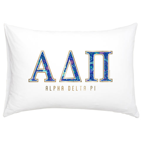 Cotton Pillow Case  Alpha Delta Pi - Alexandra and Company