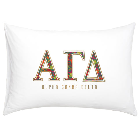 Cotton Pillow Case  Alpha Gamma Delta - Alexandra and Company