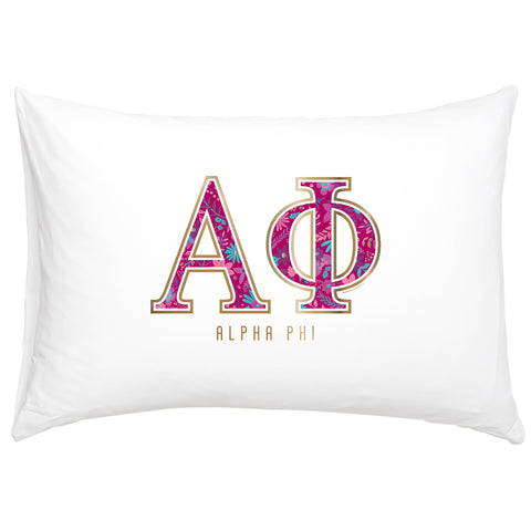 Cotton Pillow Case  Alpha Phi - Alexandra and Company