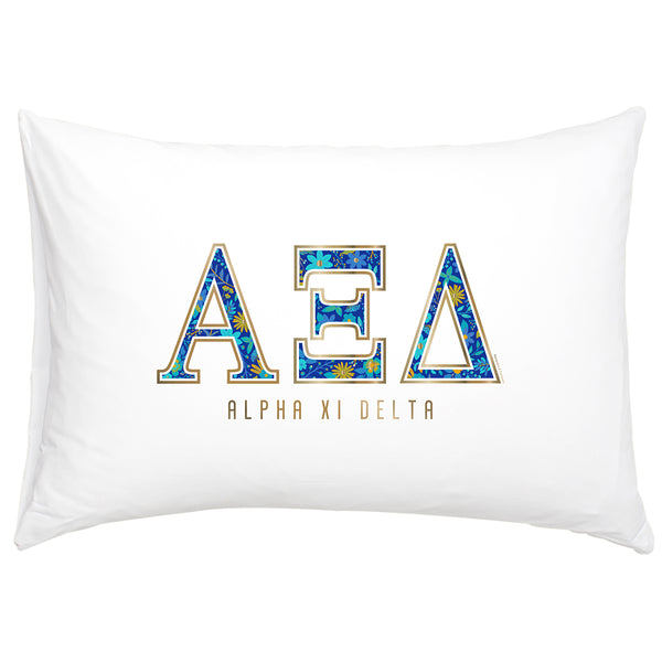 Cotton Pillow Case  Alpha Xi Delta - Alexandra and Company