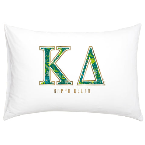 Cotton Pillow Case  Kappa Delta - Alexandra and Company