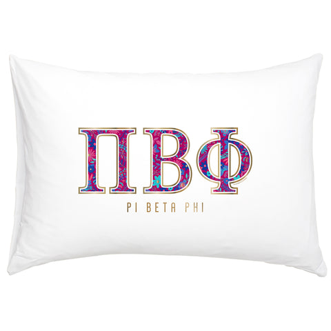 Cotton Pillow Case  Pi Beta Phi - Alexandra and Company