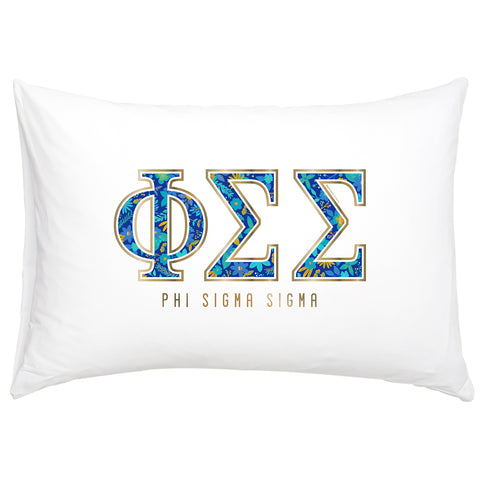 Cotton Pillow Case  Phi Sigma Sigma - Alexandra and Company