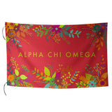 Sublimated Flag Alpha Chi Omega - Alexandra and Company