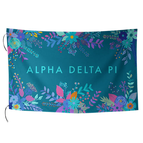 Sublimated Flag  Alpha Delta Pi - Alexandra and Company