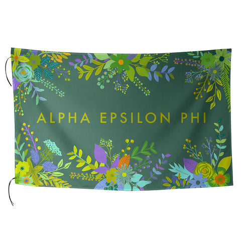 Sublimated Flag  Alpha Epsilon Phi - Alexandra and Company