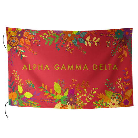 Sublimated Flag  Alpha Gamma Delta - Alexandra and Company