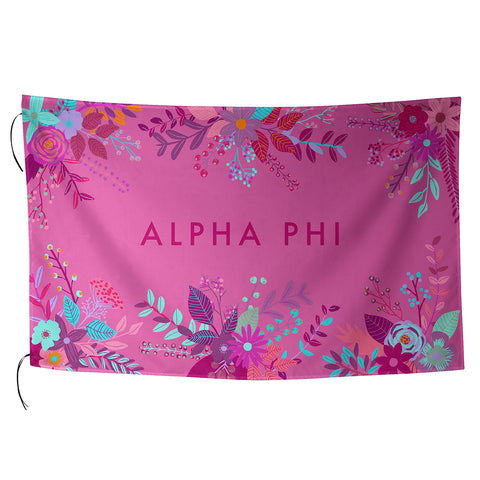Sublimated Flag  Alpha Phi - Alexandra and Company