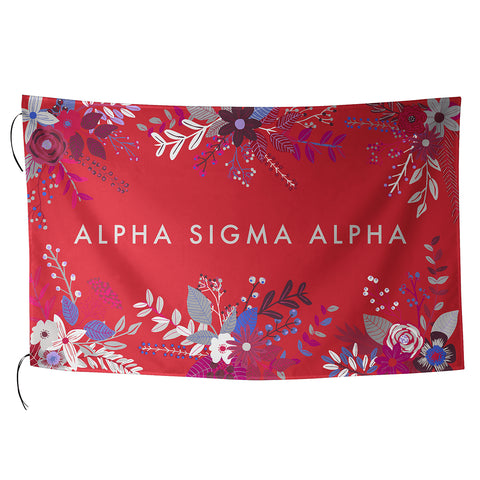 Sublimated Flag  Alpha Sigma Alpha - Alexandra and Company