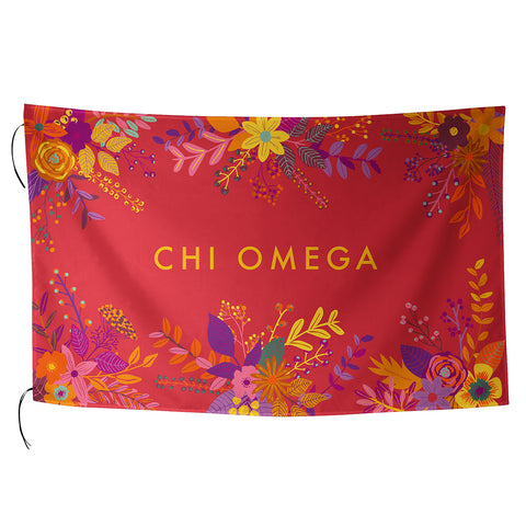 Sublimated Flag  Chi Omega - Alexandra and Company