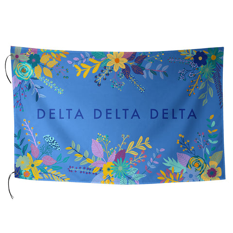 Sublimated Flag  Delta Delta Delta - Alexandra and Company