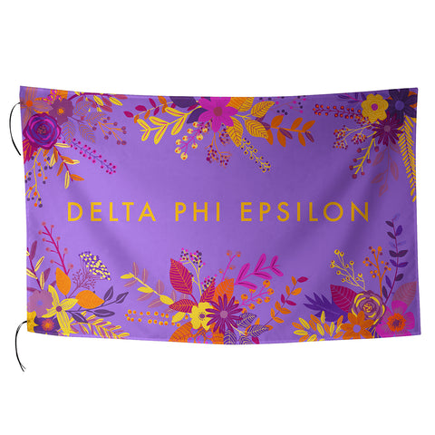 Sublimated Flag  Delta Phi Epsilon - Alexandra and Company