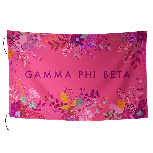 Sublimated Flag  Gamma Phi Beta - Alexandra and Company