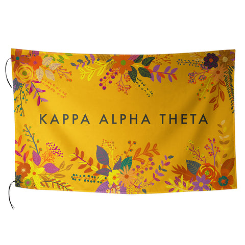 Sublimated Flag  Kappa Alpha Theta - Alexandra and Company
