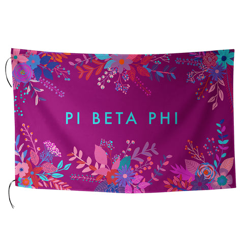 Sublimated Flag  Pi Beta Phi - Alexandra and Company