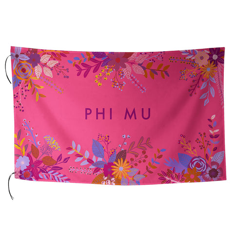 Sublimated Flag  Phi Mu - Alexandra and Company