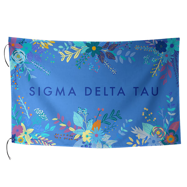 Sublimated Flag  Sigma Delta Tau - Alexandra and Company