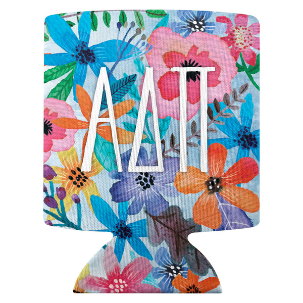 Flower Can Cooler  Alpha Delta Pi (F18)