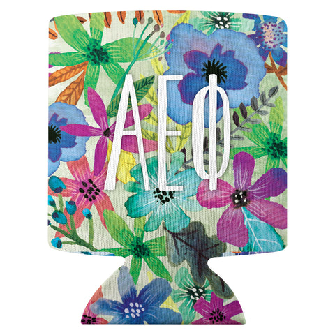 Flower Can Cooler  Alpha Epsilon Phi (F18)