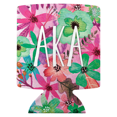 Flower Can Cooler  Alpha Kappa Alpha (F18)