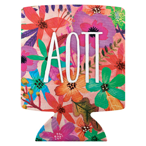 Flower Can Cooler  Alpha Omicron Pi (F18)