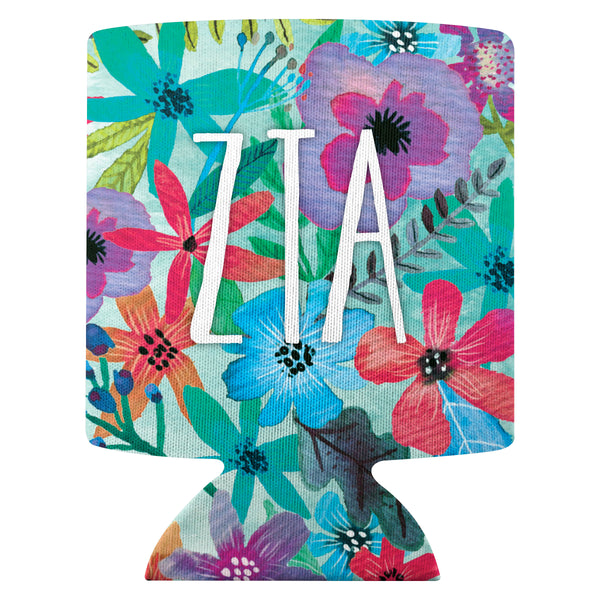 Flower Can Cooler  Zeta Tau Alpha (F18)