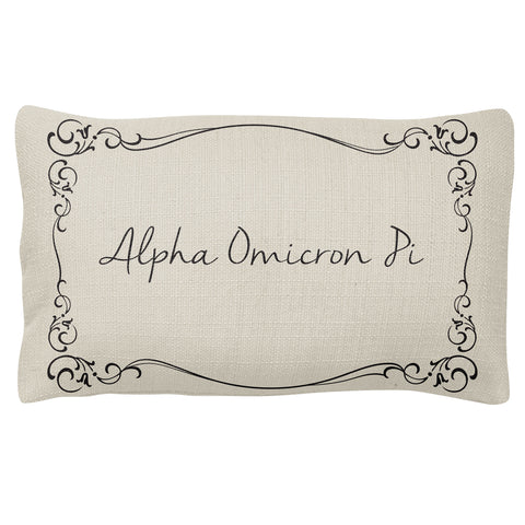 Lumbar Pillow  Alpha Omicron Pi (F18)