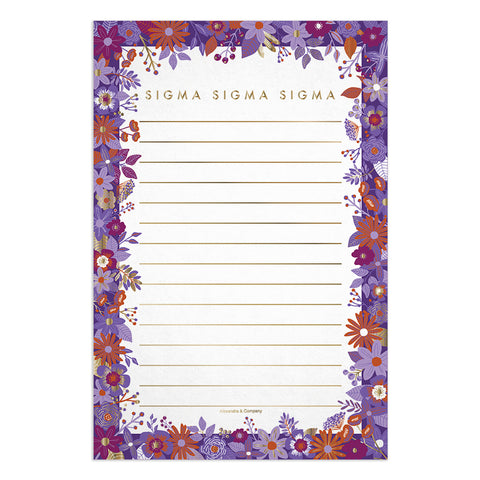 Floral Notepads Sigma Sigma Sigma