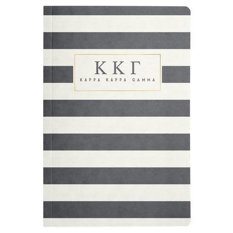NOTEBOOK STRIPED KAPPA KAPPA GAMMA (F19)