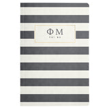 NOTEBOOK STRIPED PHI MU (F19)