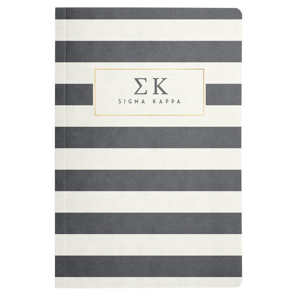 NOTEBOOK STRIPED SIGMA KAPPA (F19)