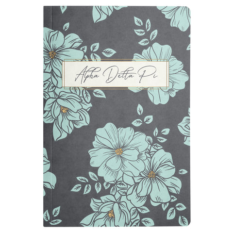 NOTEBOOK BLUE FLORAL ALPHA DELTA PI (F19)