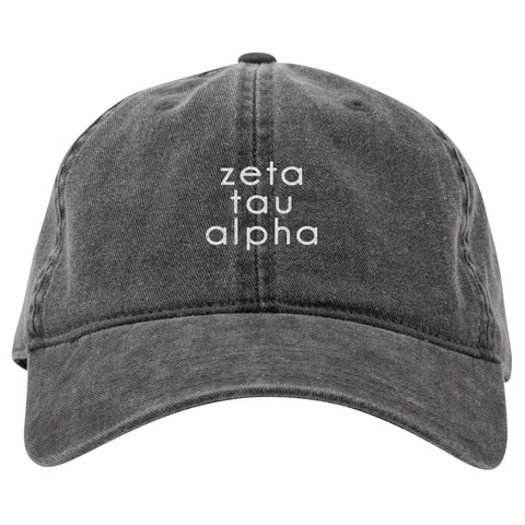 DARK GRAY CAP ZETA TAU ALPHA (F19)