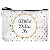 COTTON MAKEUP BAG ALPHA DELTA PI (F19)
