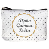 COTTON MAKEUP BAG ALPHA GAMMA DELTA (F19)