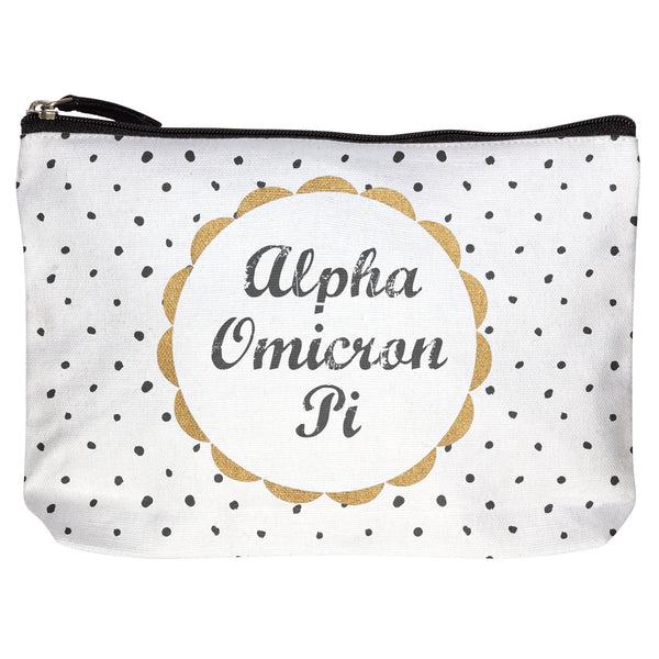 COTTON MAKEUP BAG ALPHA OMICRON PI (F19)